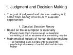 1 judgment and decision making