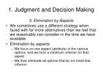 1 judgment and decision making7