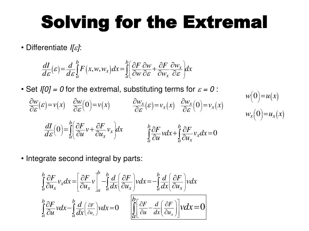 Solving for the Extremal
