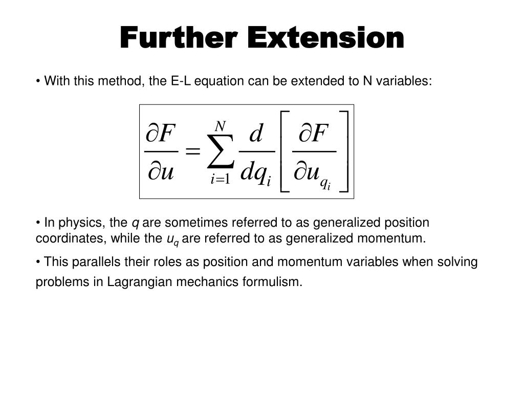 Further Extension