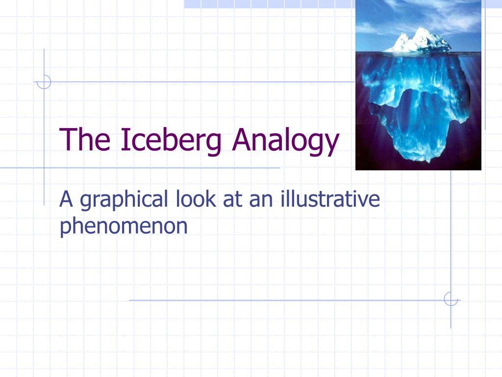 the iceberg analogy l.