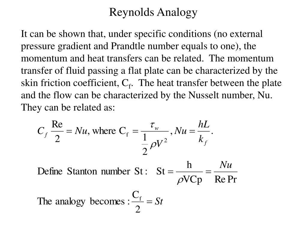 reynolds analogy l.