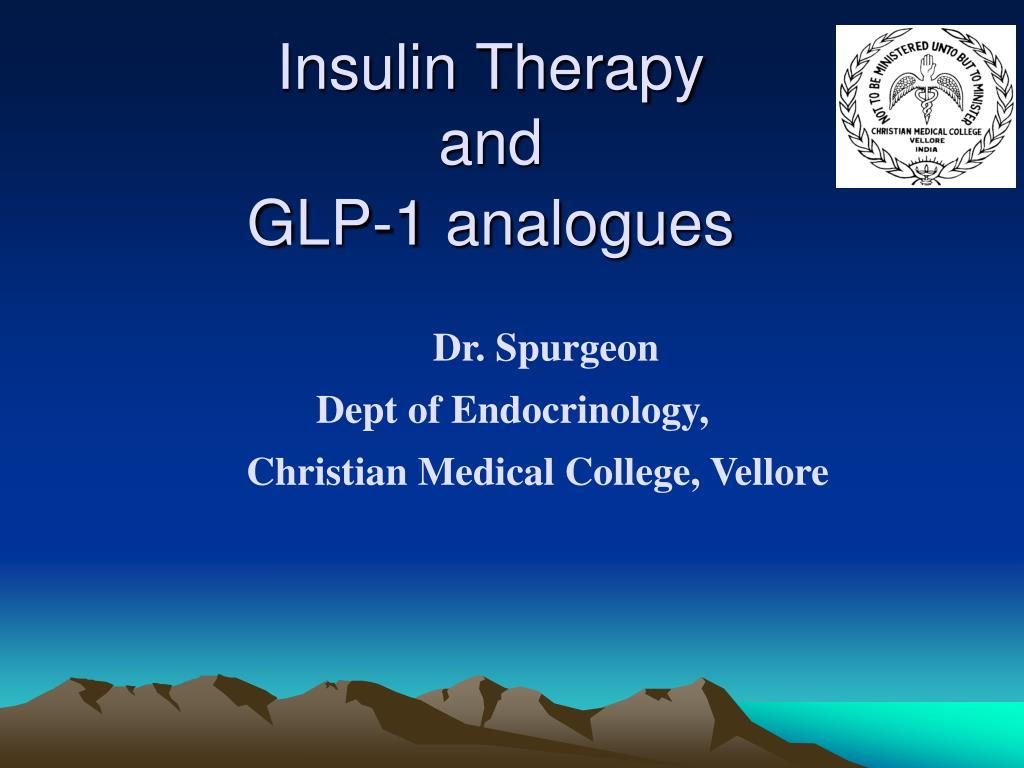 insulin therapy and glp 1 analogues l.