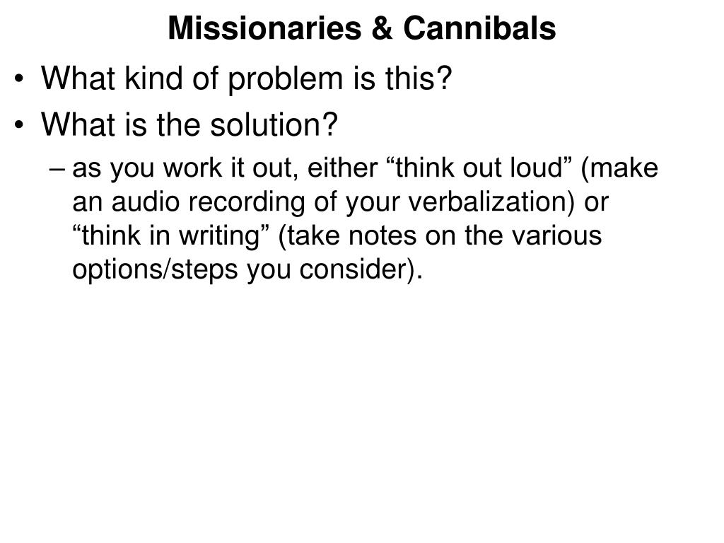 Missionaries & Cannibals