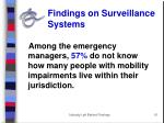 findings on surveillance systems