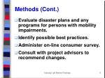 methods cont