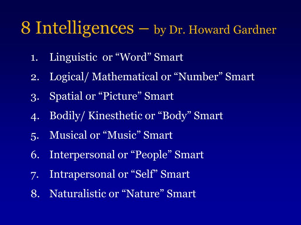 8 Intelligences –