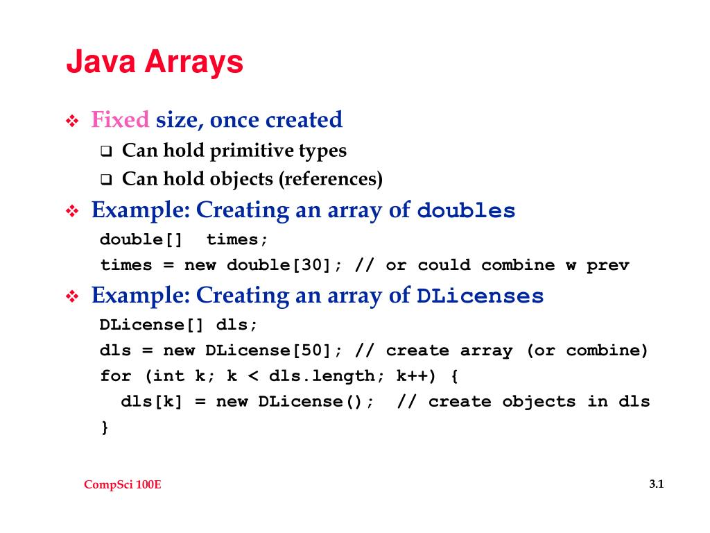 java arrays l.