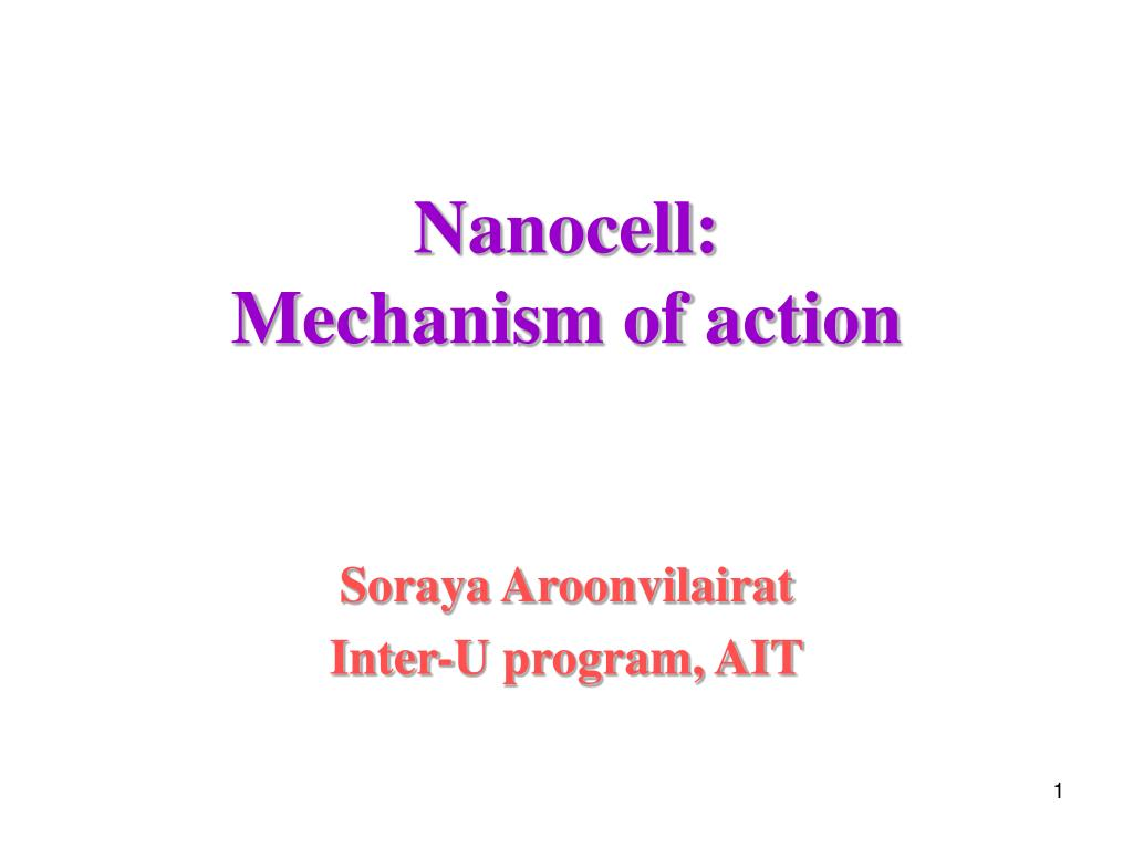 nanocell mechanism of action l.