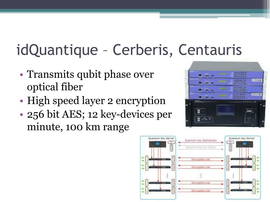 idQuantique – Cerberis, Centauris