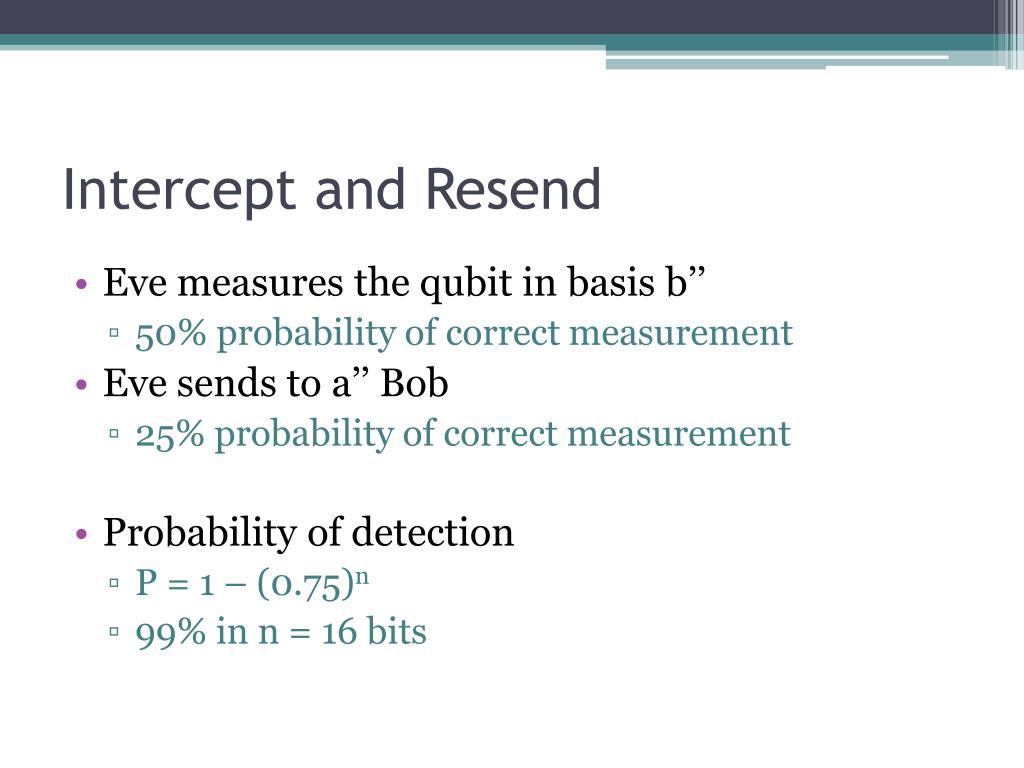 Intercept and Resend