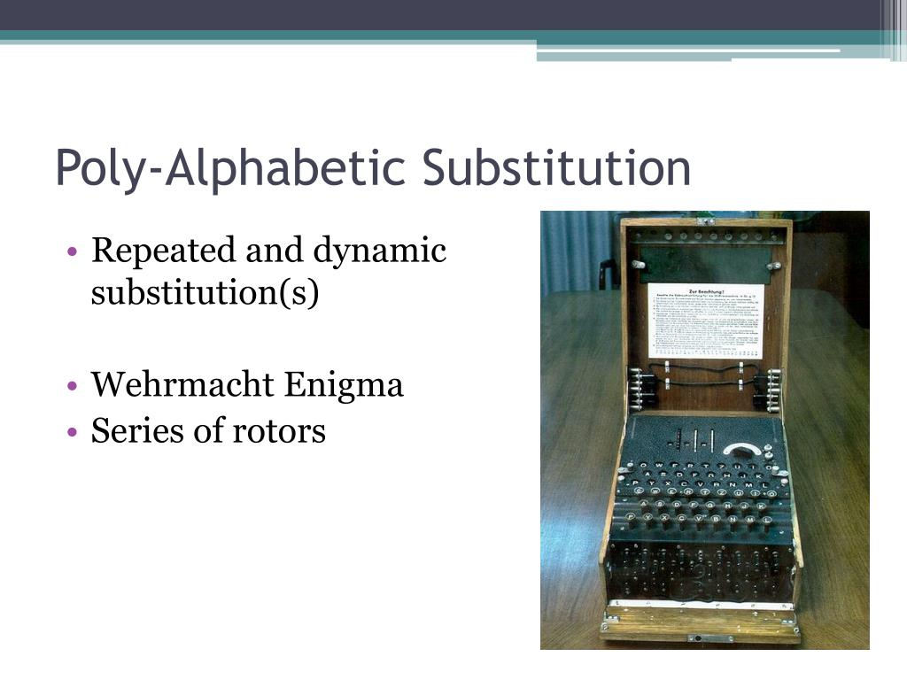 Poly-Alphabetic Substitution