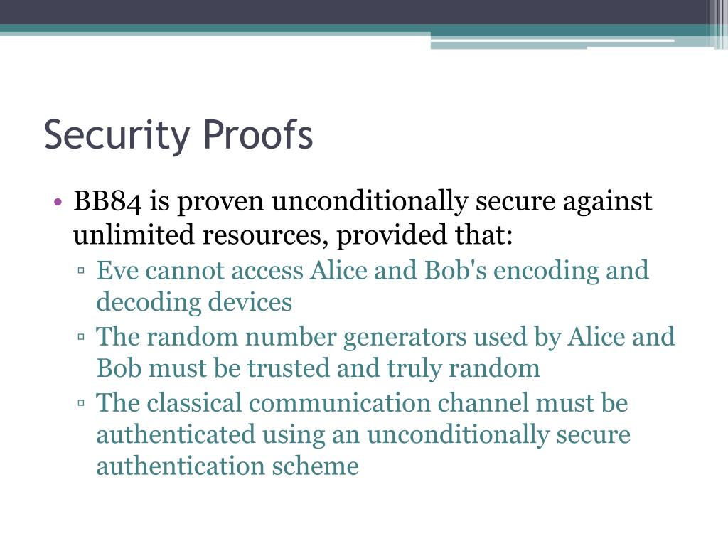 Security Proofs
