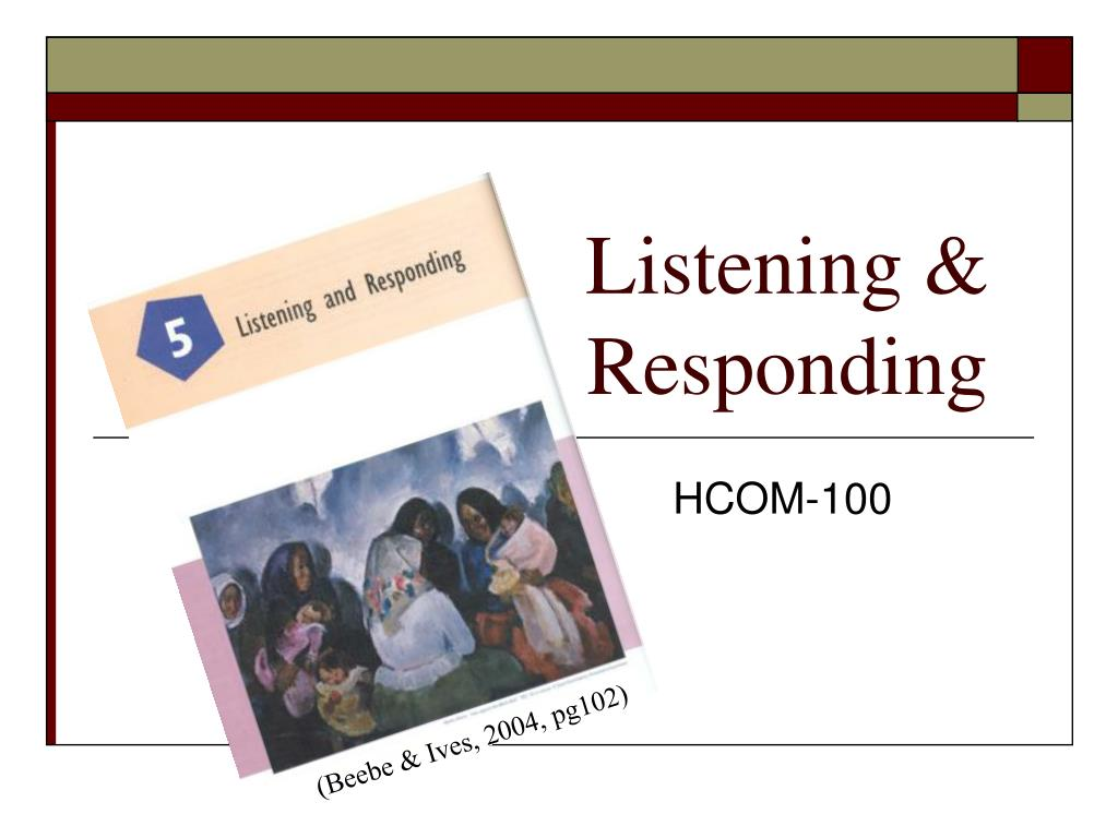 listening responding l.