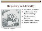 responding with empathy