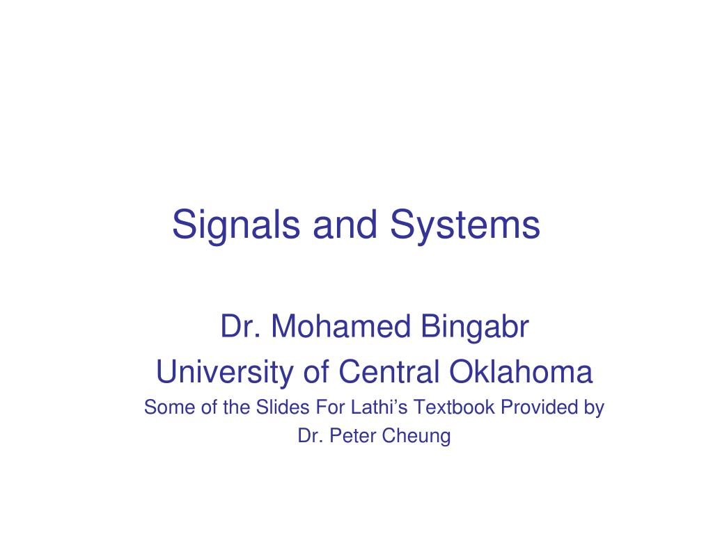 signals and systems l.