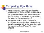 comparing algorithms23