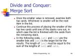divide and conquer merge sort90