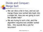 divide and conquer merge sort93