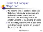 divide and conquer merge sort94