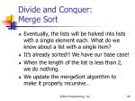 divide and conquer merge sort95