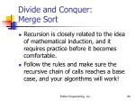 divide and conquer merge sort98
