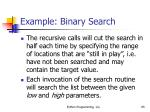 example binary search65