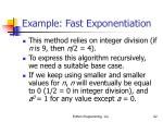 example fast exponentiation62