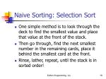 naive sorting selection sort79