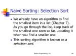 naive sorting selection sort80