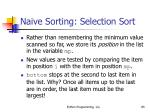 naive sorting selection sort85