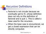 recursive definitions39