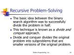 recursive problem solving