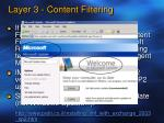 layer 3 content filtering