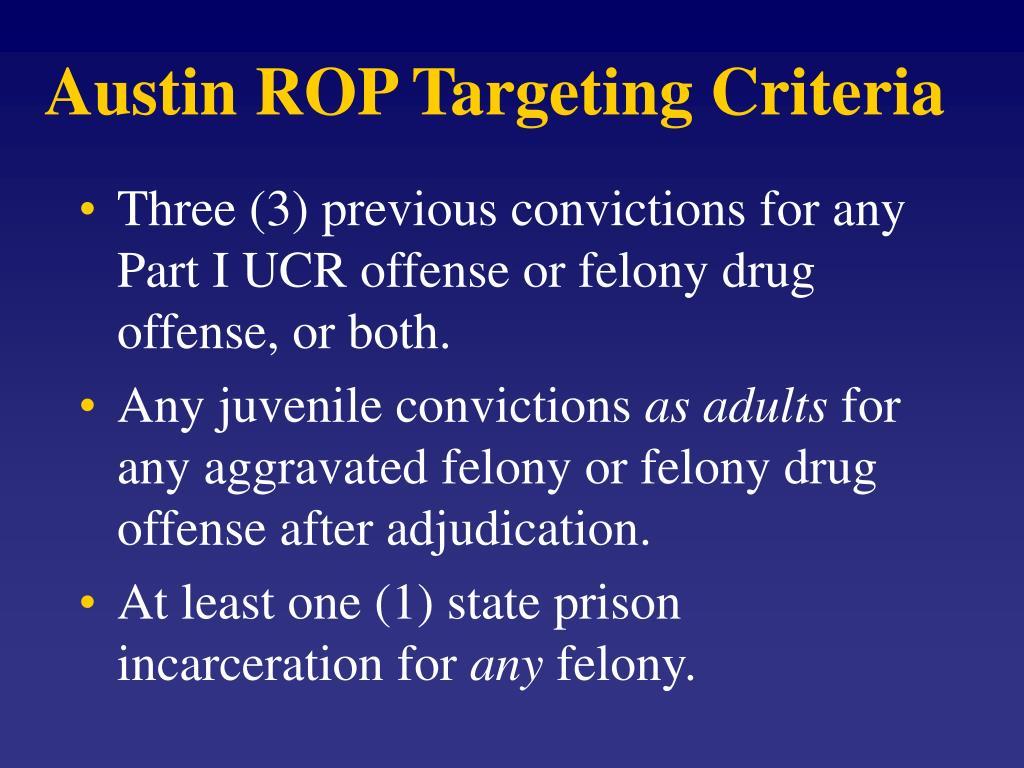 Austin ROP Targeting Criteria