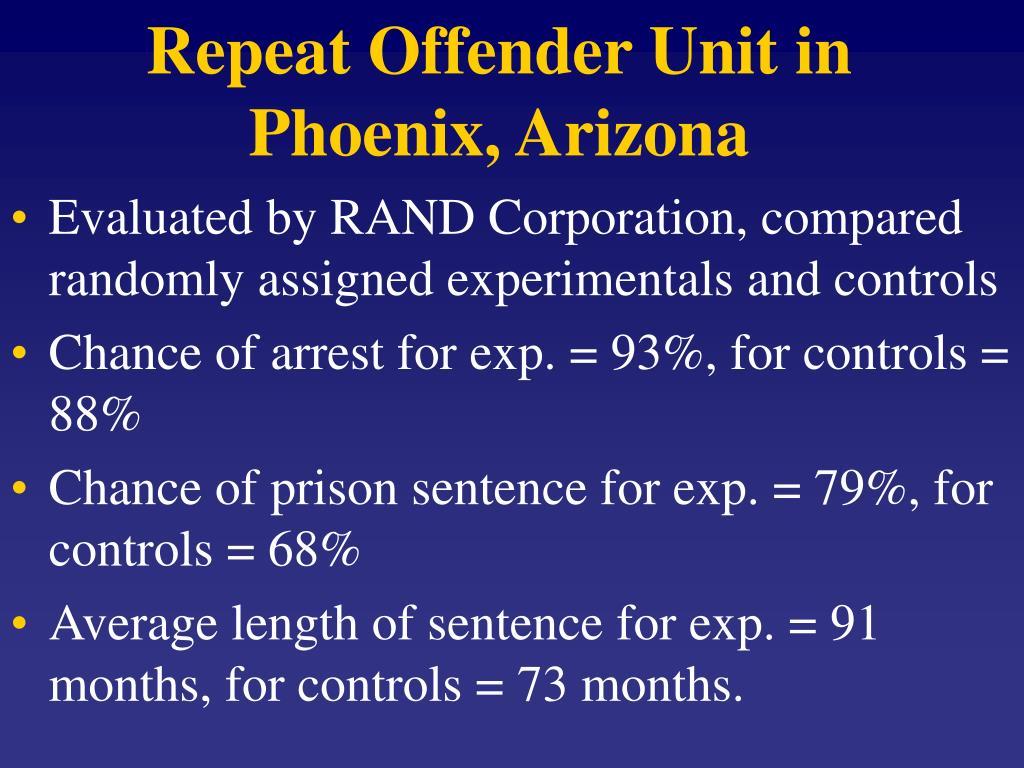 Repeat Offender Unit in Phoenix, Arizona