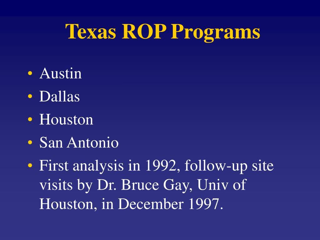 Texas ROP Programs