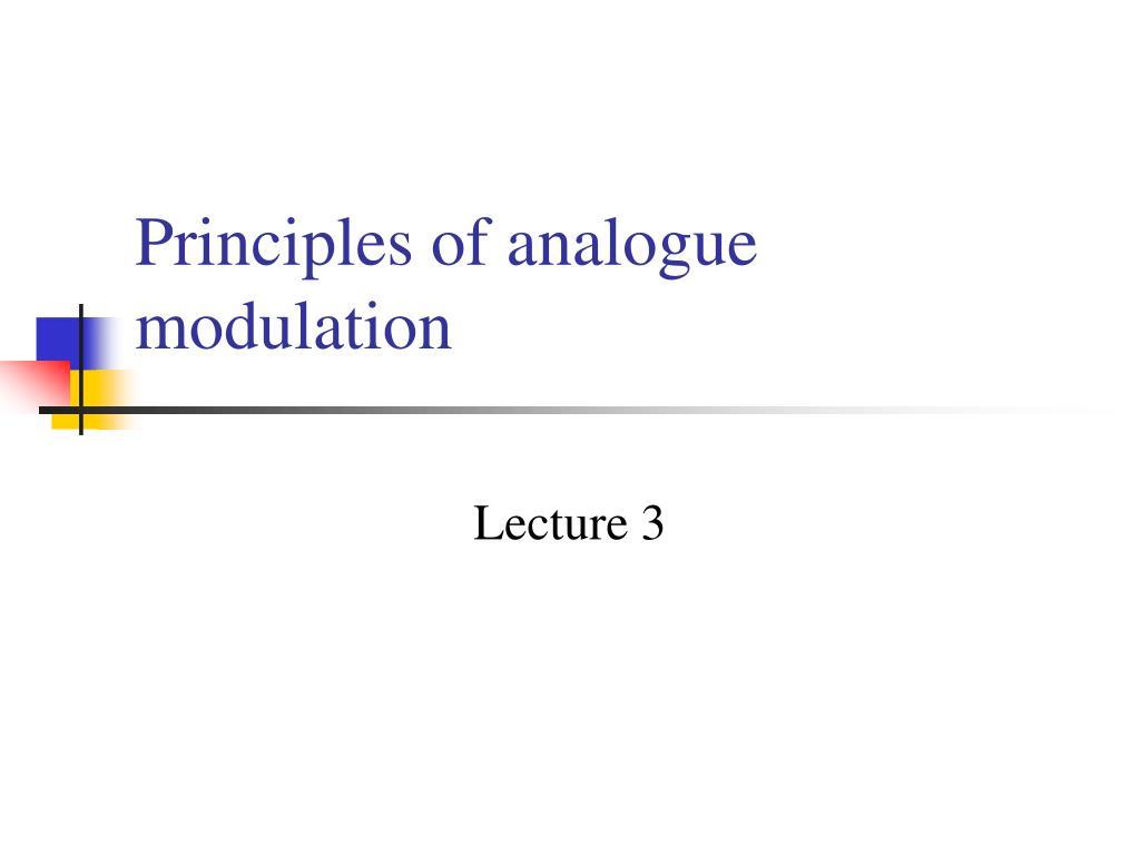 principles of analogue modulation l.
