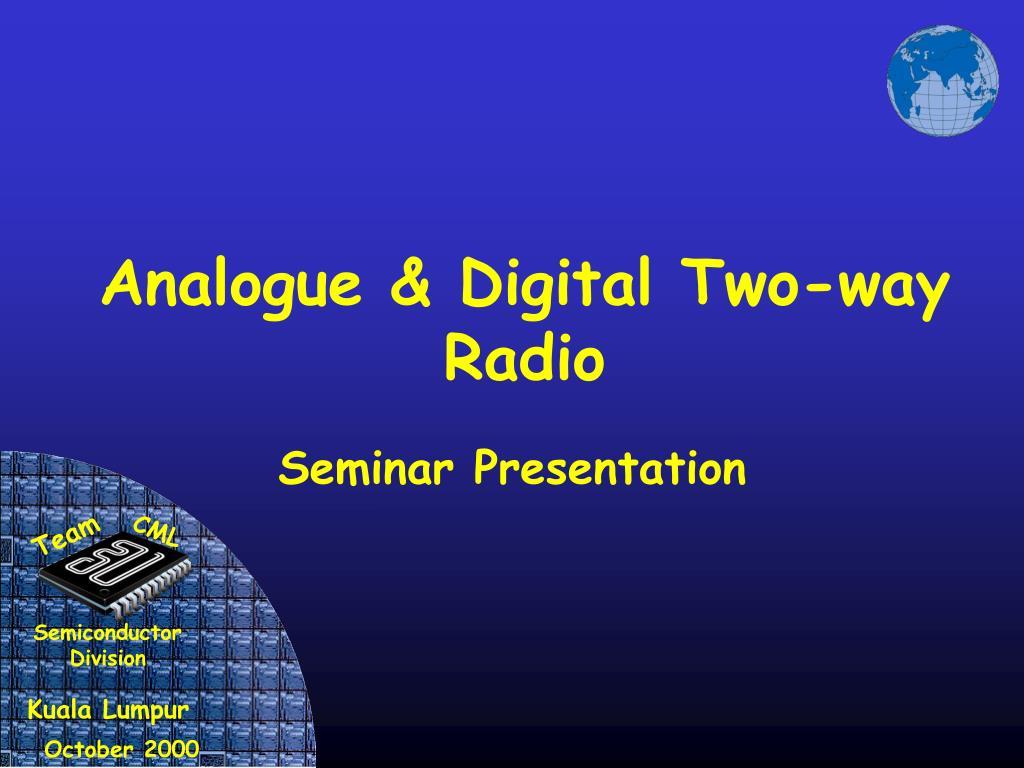 Analogue & Digital Two-way Radio