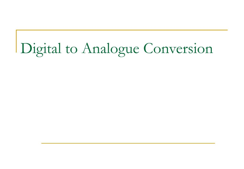 digital to analogue conversion l.