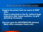 you can easily develop scripts
