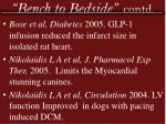 bench to bedside contd