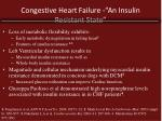 congestive heart failure an insulin resistant state