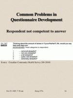 common problems in questionnaire development2