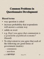 common problems in questionnaire development7
