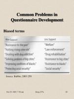 common problems in questionnaire development8