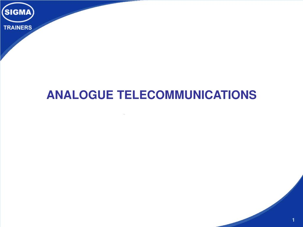 analogue telecommunications l.