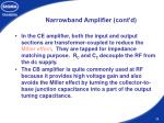 narrowband amplifier cont d