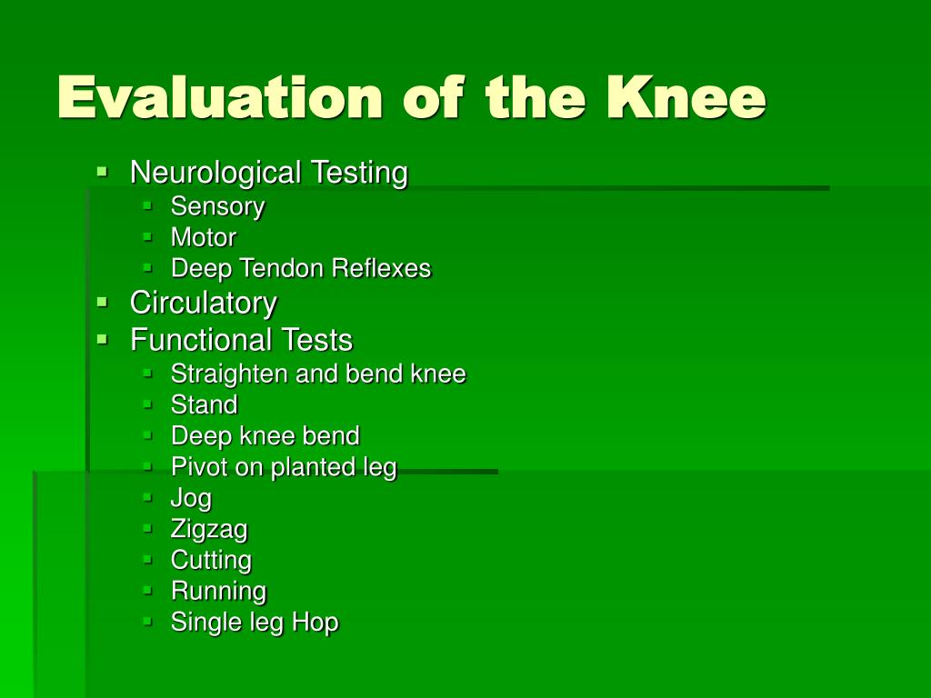 Evaluation of the Knee