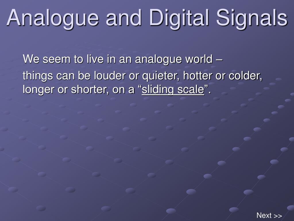 analogue and digital signals l.